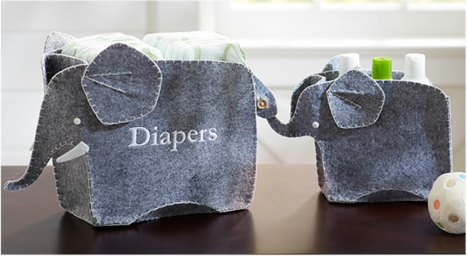 Elephant Changing Table Storage